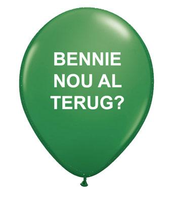 Bennie nou al terug?